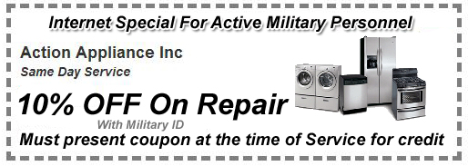Military Customer Appliance Repair Coupon